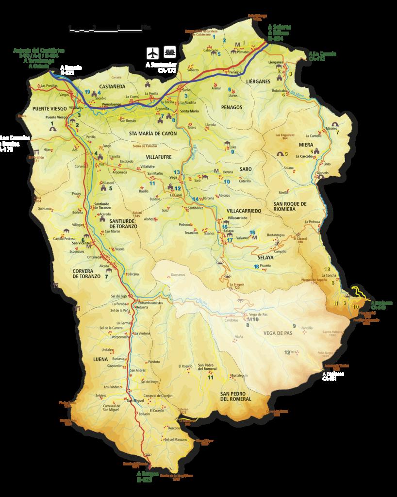 mapa Vega de Pas