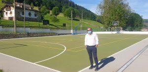 Alcalde Vega de Pas. Pista Deportiva. Cantabria